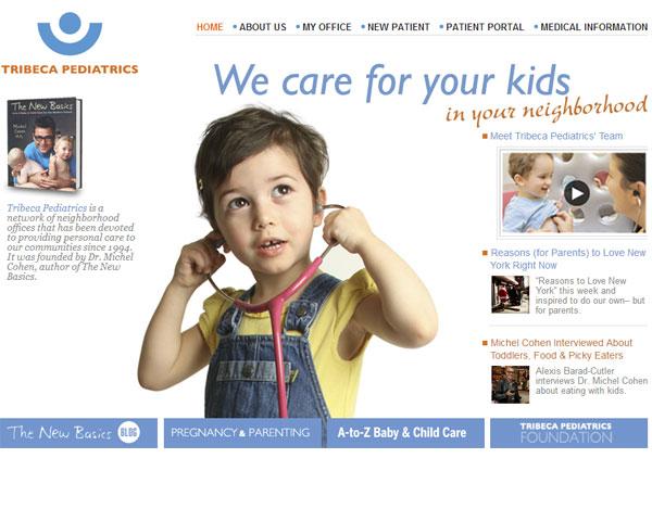 TribecaPediatrics.com Launches Redesigned Website with New Custom Features